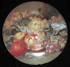 "Limoges St Martin Decorative 10"" Plates, Fresh Fruit and Flowers"