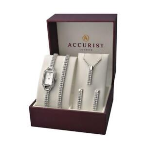 Accurist 8001G 5 Piece Art Deco Styled Gift Set RRP £200.00 Authorised Stockist