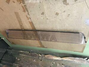 85-89 OEM Toyota MR2 AW10 AW11 Clear Roof Spoiler Visor acrylic rear top RARE