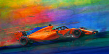 Fernando Alonso, 2018 McLaren Formula one F1,  Motorsport Automotive Car Art