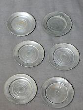 6 Assiettes EN ÉTAIN pour DÎNETTE DE POUPÉE  19 éme Diamètre 6,2 cm
