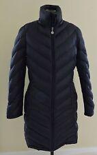 CALVIN KLEIN Packable Lightweight Premium Down Womens M Long Black Puffer Coat