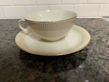 Eschenbach Bavaria Germany cup and saucer ivory gold