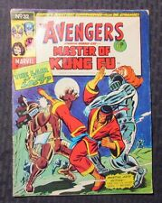 1974 AVENGERS & Master of Kung-Fu #32 VG- 3.5 Marvel UK Weekly Jim Starlin MOKF