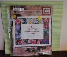 Lovely THE AMEN OF NATURE IS ALWAYS A FLOWER Cross Stitch Picture Kit 15x12 SIGN