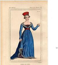 COSTUME DE LA FRANCE XVe siècle / Marie de Fayel