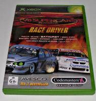 V8 Supercars Australia Race Driver XBOX Original PAL *Complete*