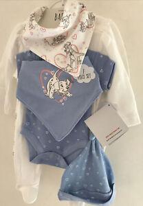 Disney Baby 7 Piece Baby Girls Cotton Layette Set ~ Newborn ~ 9 Lbs  ~