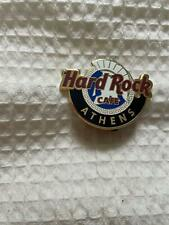 Hard Rock Cafe Pin Athens Global Logo - Blue and White w Ancient Greek Helmet