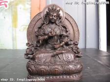 Sino-Tiebtan  Buddhism Pure Bronze Statue of Vajrasattva Buddha