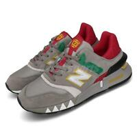 New Balance 997S Grey Suede Red Yellow Mens Lifestyle Running Shoes MS997XZ D