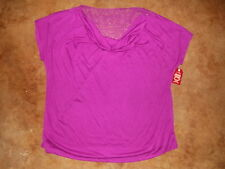 NWT Womens 2X 18W-20W Faded Glory violet purple ss fashion knit top blouse