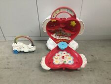 1983 Kenner Care Bears ❤️ Heart HOUSE Playset Carrying Case Care-A-Lot Roller