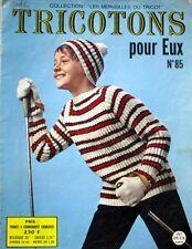 Revue de mode Catalogue de tricot - Tricotons pour eux n°85 - Année 60 -