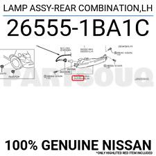 265551BA1C Genuine Nissan LAMP ASSY-REAR COMBINATION,LH 26555-1BA1C