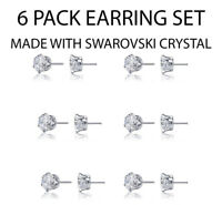 Set of 3 Pairs Surgical Stainless Steel Ear Piercing April RD3.0mm Stud Earrings
