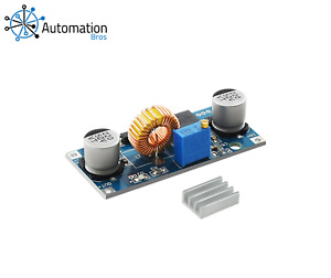 5A DC-DC 4-38V to 1.25-36V Step Down Adjustable Power Supply Module w/ Heat Sink