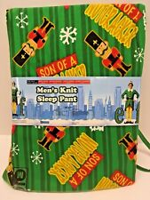 "Mens Knit Sleep Pants - MEDIUM 32""-34""  - ELF Son Of A Nutcracker - NEW"