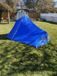 Rare Vintage 1960's Gerry Campoinaire Blue Three Person Backpacking Tent