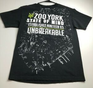 Zoo York Men's Short Sleeve Graphic T Shirt Medium M Black White Logo Spellout