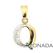9k Solid Yellow Gold Diamond Letter Initial O Pendant 62050/O