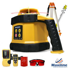 Self Leveling Rotary Rotating Laser Level Tripod and Staff GSW102 Red Beam Video