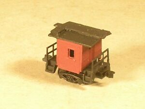 N Scale 7 foot Logging Caboose. A very short caboose. hehehe