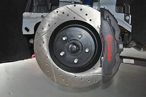 15-19 Mustang GT with Brembo Front StopTech Cross Drilled & Slotted Brake Rotors