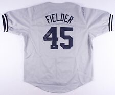 "Cecil Fielder Signed Yankees Jersey Inscribed ""96 WS Champs"" (Schwartz COA)"