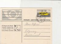 switzerland 1939 official postal automobile stamps card ref 20790