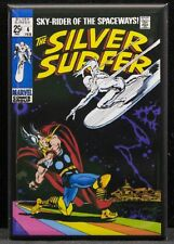 "The Silver Surfer #4 Comic Book 2"" X 3"" Fridge / Locker Magnet. Thor"