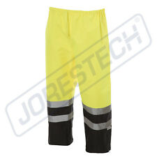 Hi Vis Rain Pants Work Waterproof two tone Reflective Visibility Safety ANSI