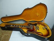 Vinatge 1960's - 70's Univox 335 Semi Hollowbody Guitar W/Hard Case Free Ship!
