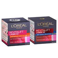 L'Oreal Paris Revitalift Laser X3 SPF15 Day Cream + Night Cream Set