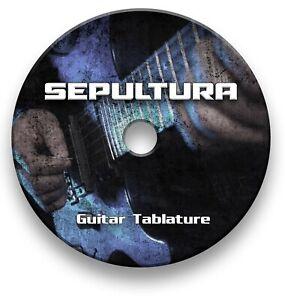Sepultura Rock Metal Guitar Tab Tablature Lesson Software CD - Guitar Pro