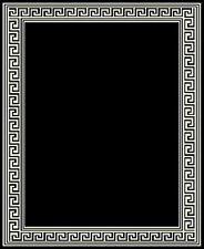 Modern Greek Key Woven 8x11 Area Rug Black New