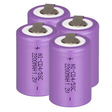 4-20pc 1.2V Ni-Cd  Sub C 2200mAh Rechargeable Battery Purple With Flat USA Stock
