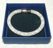 Unique Swarovski Swan Logo Silver Tone Crystal Dust Bracelet Mm57