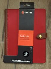 Ipad Cover Griffin Back Bay Folio Fir 3rd /4th Generation And Ipad2 Red.
