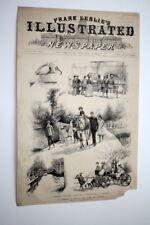 FRANK LESLIE'S POPULAR MONTHLY MAGAZINE 1889 CENTRAL PARK NY SCENES OCTOBER
