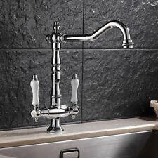 Traditional Kitchen Tap Basin Mixer Sink Bridge Ceramic Levers Victorian Taps AU