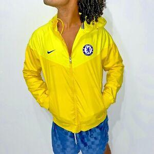 Rare Chelsea Nike Windrunner Jacket Glanz Nylon Jacket Glanz All Yellow Medium