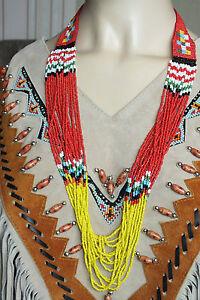 indianer,perlenkette,collier,16reihig,kette,perlen,indinerkette,necklace,chain,