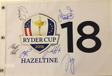 Sergio Garcia, Justin Rose, Thomas Pieters & more signed 2016 RYDER CUP flag