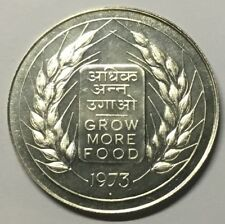 G2087 - India 20 Rupees 1973 KM#240 Scarce Silver Food for all FAO Indien