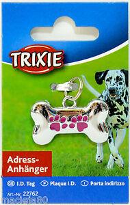 TRIXIE BONE SHAPED DOG Address Tag ID Pet WRITE CONTACT DETAILS