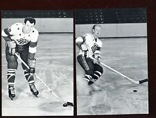 1963/1964 Rochester Americans Hockey Cards 2 Different