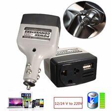 Car Mobile Converter Inverter Adapter DC 12V/24V to AC 220V Charger Power + USBN