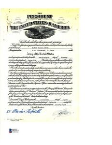 Marion Smith Signed Army Document BAS D87877 USS Indianapolis Rescue
