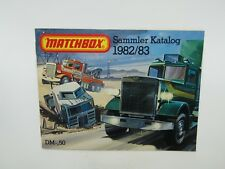 Matchbox Superfast 1982/83 Catalogue GERMAN Edition - No Graffiti - VN Mint RARE